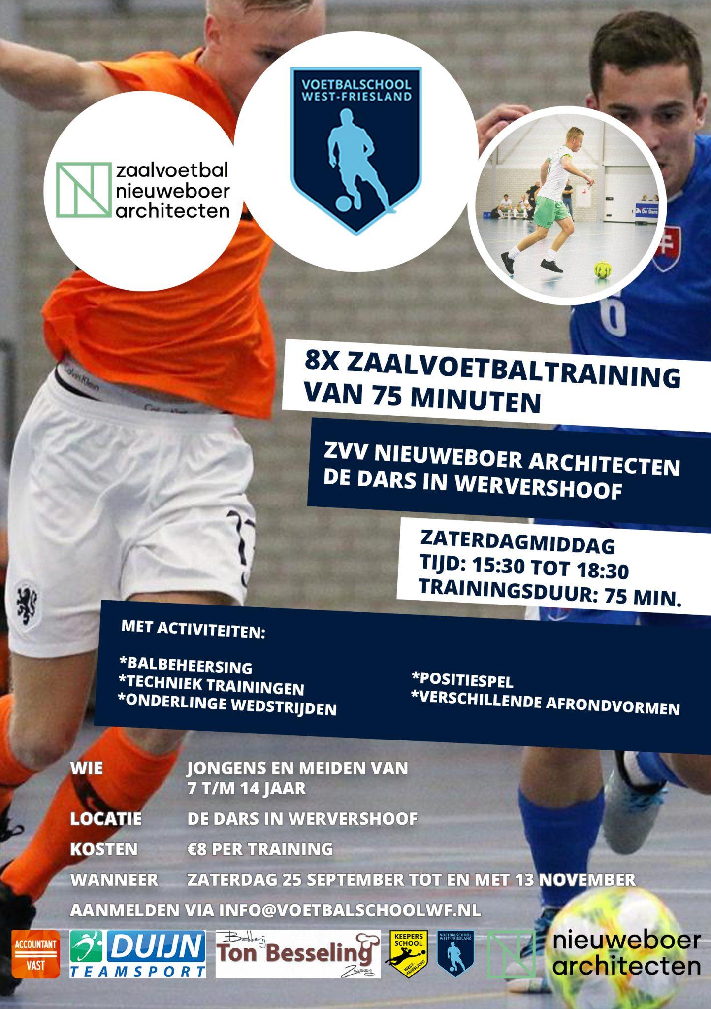 Nieuweboer en Voetbalschool Westfriesland organiseren trainingen tot en met 14 jaar